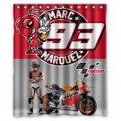 """Marc Marquez Motogp Sachsenrin Circuit Fabio Quartararo Bathroom Shower Curtain 60""""x 72"""""""