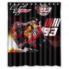 """Marc Marquez Motogp German Circuit Repsol Honda Bathroom Shower Curtain 60""""x 72"""""""
