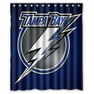 "Personalized Tampa Bay Lightning Ice Hockey Team Hockey League Bathroom Shower Curtain 60""x 72"""