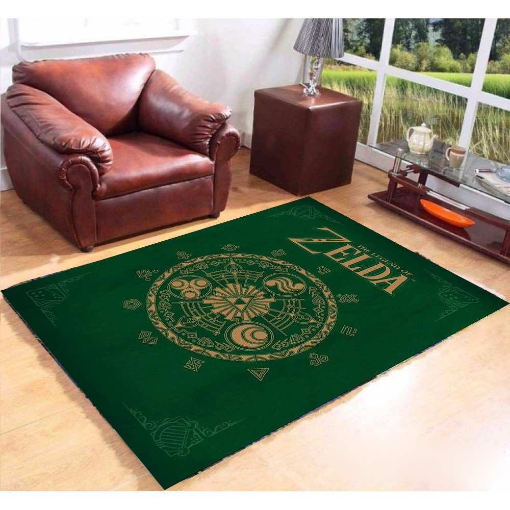 Personalized Nintendo - Legend Of Zelda 5'x3'3'' Living Room Kichent Coffe's Most Popular Area Rugs
