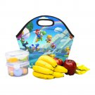 Super Mario Bros Coofit Neoprene Lunch Bag Waterproof Insulated Lunch Bag Tote for Kids, Women, Men