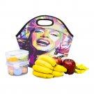 Marilyn Monroe Art Neoprene Lunch Bag Waterproof Insulated Lunch Bag Tote for Kids, Women, Men