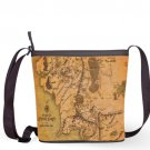 The Hobbit Middle Earth Map Lord Of The Ring Shoulder Handbags Sling Bags Ladies Women's Teen Unique
