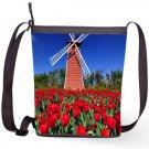 Wind Mild Tulip Flowers Shoulder Handbags Sling Bags Ladies Women's Teen Unique Shaped Handbags