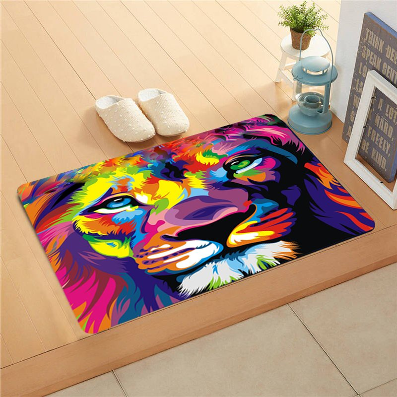 "Lion Full Colour Doormat 24""x16"" Non Slip Mat Rugs Carpets Door Mats Floor Mats"