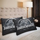Jurassic World Park Set 2 Items Pillow Case 20 x 30 One-Side Printed Best Pillow Quality Fabric