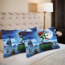 How the Grinch Stole Christmas Set 2 Pillow Case 20 x 30 One-Side Printed Best Pillow Quality Fabric