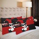 Harley Quinn Joker Batman Set 2 Pillow Case 20 x 30 One-Side Printed Best Pillow Quality Fabric
