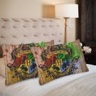 Hogwarts Harry Potter Set 2 Pillow Case 20 x 30 One-Side Printed Best Pillow Quality Fabric