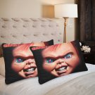 Chucky child's play Set 2 Pillow Case 20 x 30 One-Side Printed Best Pillow Quality Fabric