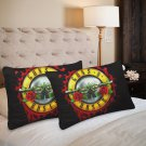 Guns N' Roses Pillow Case Set 2 Pillow Case 20 x 30 One-Side Printed Best Pillow Quality Fabric