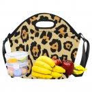 Leopard Pattern Fun Cool Neoprene Lunch Bag Waterproof Insulated Lunch Bag Kids, Women, Men