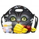 Cheshire Cat Alice's in Wonderland Neoprene Lunch Bag Waterproof Lunch Bag Kids, Women, Men
