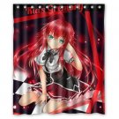 "Rias Gremory DXD HSOTD Waterproof Bathroom fabric most popular Shower Curtain 60""x 72"""