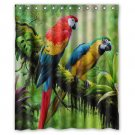 "Parrots Macaw Parrot Birds Waterproof Bathroom fabric most popular Shower Curtain 60""x 72"""