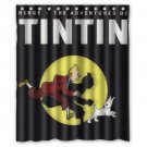"The Adventures of Tintin Comic Movie Waterproof Bathroom fabric most popular Shower Curtain 60""x 72"""
