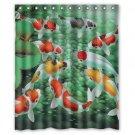 "Koi Fish Japanese Empire Fish Waterproof Bathroom fabric most popular Shower Curtain 60""x 72"""