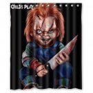 "Childs Play Movie Horror Waterproof Bathroom fabric most popular Shower Curtain 60""x 72"""