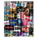 "Broadway Musical Shower Curtain Waterproof Bathroom fabric most popular Shower Curtain 60""x 72"""