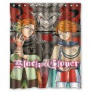 "Black Clover Anime Shower Curtain Waterproof Bathroom fabric most popular Shower Curtain 60""x 72"""