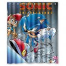 "Sonic The Hedgehog Shower Curtain Waterproof Bathroom fabric most popular Shower Curtain 60""x 72"""