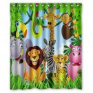 "Jungle Kids Animal Shower Curtain Waterproof Bathroom fabric most popular Shower Curtain 60""x 72"""
