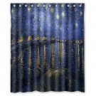 "Van Gogh Starry Night Over the Rhone Waterproof Bathroom fabric most popular Shower Curtain 60""x 72"""