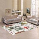 Paris Eiffel France Landmark Carpet Living Room 5'x3'3'' Home Kichent Coffe's Most Popular Area Rugs