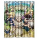 "Dr.  Stone Anime Shower Curtain Waterproof Bathroom fabric most popular Shower Curtain 60""x 72"""