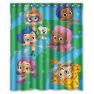 "NEW Bubble Guppies Kid Child Waterproof Fabric 12 Hooks Bathroom Shower Curtain 60""x 72"""
