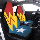 Wonder Woman Car Seat Cover Airbag Compatible(Set of 2) Drivers Car And Suvs