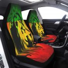 Lion Reggea Music Car Seat Cover Airbag Compatible(Set of 2) Drivers Car And Suvs