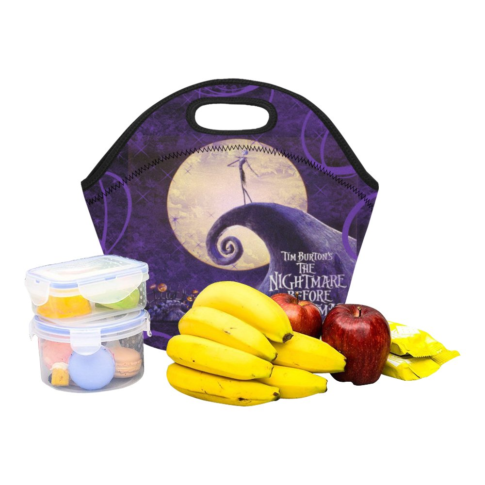 Nightmare Before Christmas Food Bag Neoprene Lunch Bag Lunch Box Reusable Tote Bags  Insulated Bag