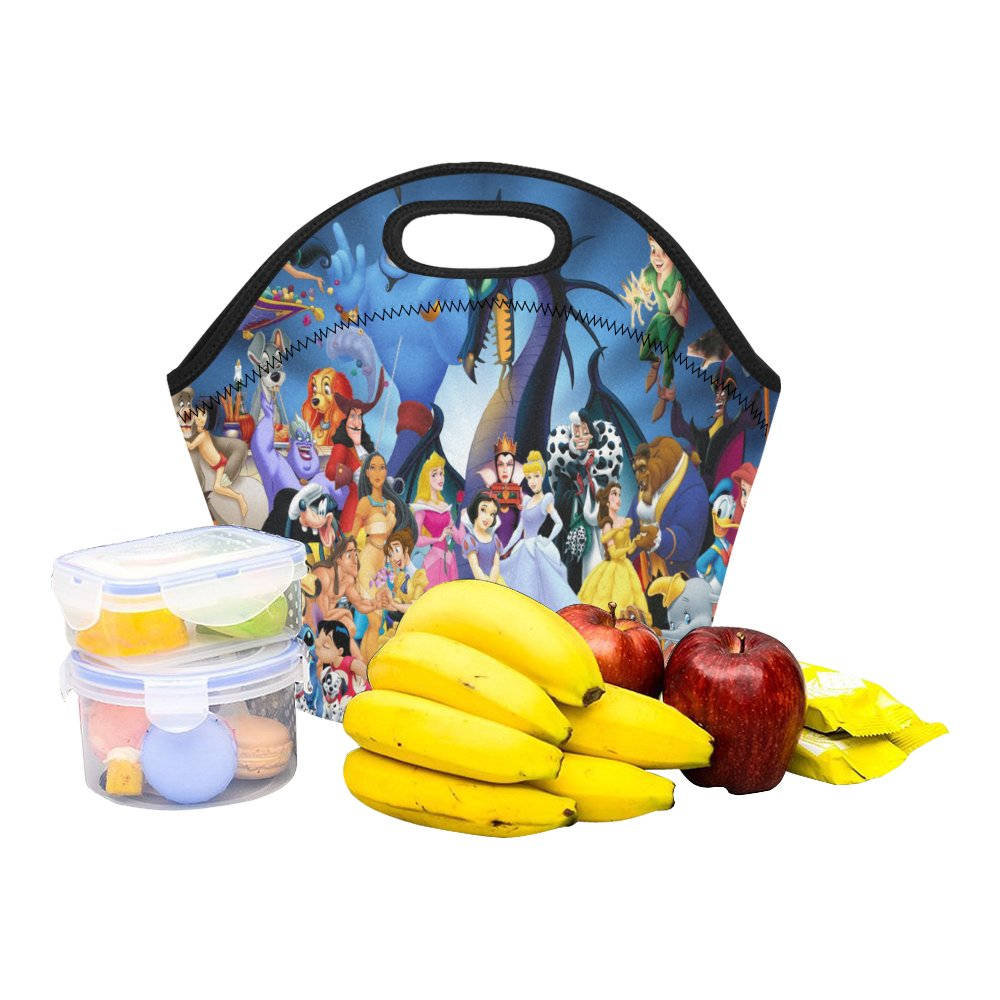 Disney Characters Food Bag Neoprene Lunch Bag Lunch Box Reusable Tote Bags  Insulated Lunch Bag