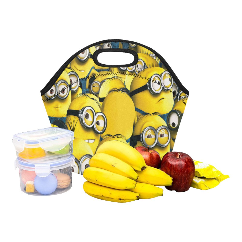 Minion Cute Food Bag Neoprene Lunch Bag Lunch Box Reusable Tote Bags  Insulated Lunch Bag