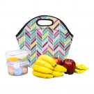 Chevron Pattern Food Bag Neoprene Lunch Bag Lunch Box Reusable Tote Bags  Insulated Lunch Bag