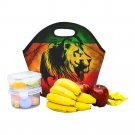 Lion Rasta Music Reggea Food Bag Neoprene Lunch Bag Lunch Box Reusable Tote Bags  Insulated Lunch