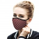 Red vintage Pattern Quality Face Mask, Cool Face Protection, Dust Cloth Comfortable, Reusable