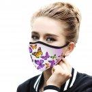 Orange Purple Butterflies Quality Face Mask, Cool Face Protection, Dust Cloth Comfortable, Reusable