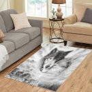 Wolves Wolf In Love Area Rug Carpet Living Room 5'x3'3'' Home Kichent Coffe's Most Popular Area Rugs
