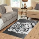 Blue Eyes White Leopard Carpet Living Room 5'x3'3'' Home Kichent Coffe's Most Popular Area Rug
