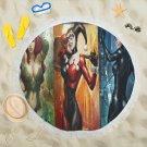 Harley Quinn Poison Ivt Cat Woman Round Beach Shawl Most Popular Towel Swimwear Blanket Scarf Wrap