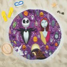 The Nightmare Before Christmas Round Beach Shawl Most Popular Towel Swimwear Blanket Cover-Up Scarf