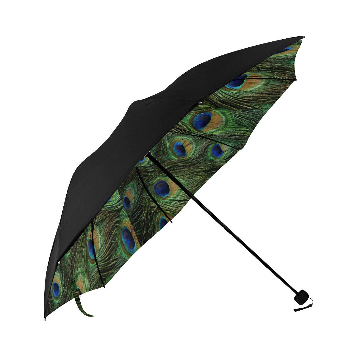 Peacock Patten Rain-Mate Travel Umbrella most popular BEST GIFT Portable Foldable Printed Umbrella