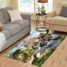 Dinosaur Area Rug Carpet Living Room 5'x3'3'' Home Kichent Coffe's Most Popular Area Rugs