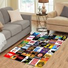 Broadway Shows Musicals Area Rug Carpet Living Room 5'x3'3'' Home Kichent Coffe's Most Popular Rugs