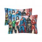 Justice League Set 2 Pillow Case 20 x 30 Set 2 One-Side Printed Best Pillow Quality Fabric