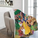 "Snow White and the Seven Dwarfs Blanket 60"" X 80"" Ultra-Soft Micro Fleece Quality Blankets Choice"