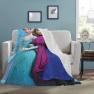 "Elsa And Anna Frozen Blanket 60"" X 80"" Ultra-Soft Micro Fleece Hight Quality Blankets Best Choice"