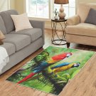Macaw Green Parrots Birds Area Rug Carpet Living Room 5'x3'3'' Home Kichent Coffe's Popular Rugs